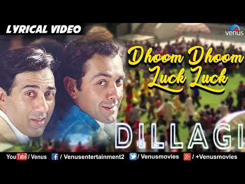 Video Dhoom Dhoom Luck Luck - LYRICAL VIDEO | Sunny, Bobby Deol | Dillagi | 90's Blockbuster Song download in MP3, 3GP, MP4, WEBM, AVI, FLV January 2017