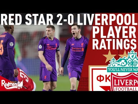 A Mediocre Performance All Round... | Red Star V Liverpool 2-0 | Player Ratings