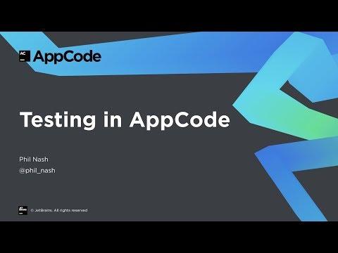 Testing in AppCode