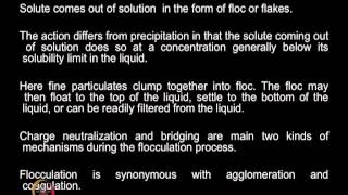 Mod-01 Lec-08 Solid Liquid Separation