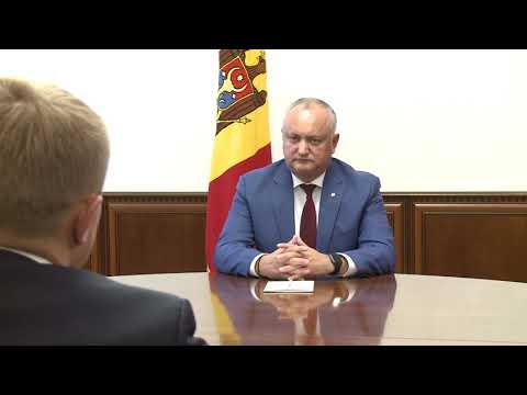 Igor Dodon a avut o întrevedere cu președintele Organizației Obștești pentru întreprinderile mici și mijlocii din Rusia