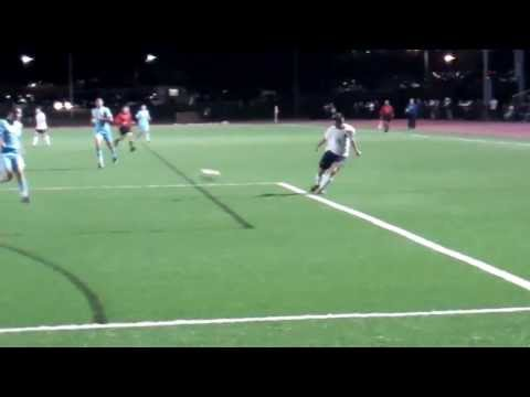 First career goals by Mike Lynch '17 and Michael Chaput '16 against Lasell, 9/18