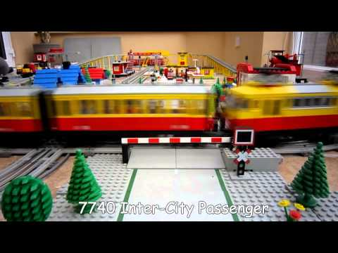 Lego Town Trains - 12v Train Layout from 1980's
