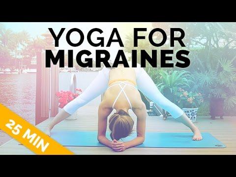 Yoga for Migraine & Headache Relief - Gentle, All Levels Yoga (25 Min)