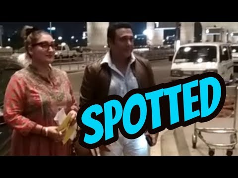 Govinda & his Wife Spotted at Airport