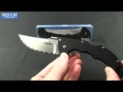 "Cold Steel 5.5"" Talwar Lockback Knife Blue G-10 (Satin CTS-XHP) 21TXVLU"