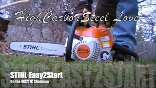 1. STIHL Easy2Start On the Outstanding MS211C-BE Chainsaw