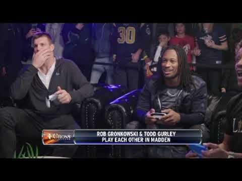 Video: Rob Gronkowski Battles Todd Gurley In Epic Game Of Madden 19