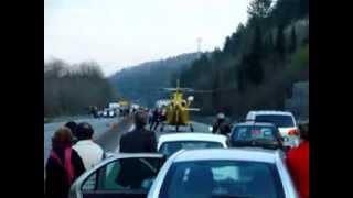Preview video Incidente stradale con intervento elisoccorso