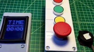 Escape room Arduino controllable countdown timer