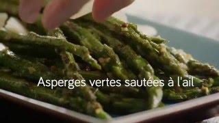 Asperges vertes sautées à l'ail