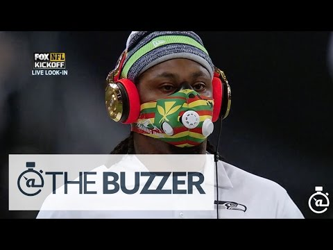wearing - It's not yet Halloween, so someone please tell us what Marshawn Lynch is wearing before the Seahawks take on the Rams in St. Louis. SUBSCRIBE to get the latest @TheBuzzer content: ...