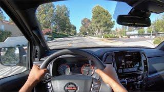 2020 Nissan Titan Pro 4X POV Drive (3D Audio)(ASMR) by MilesPerHr