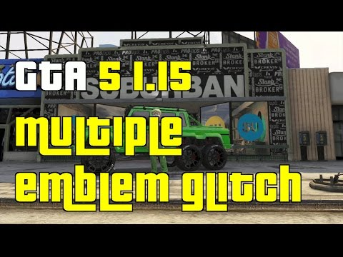 GTA 5 Online New Multiple Emblem Glitch 1.15 \