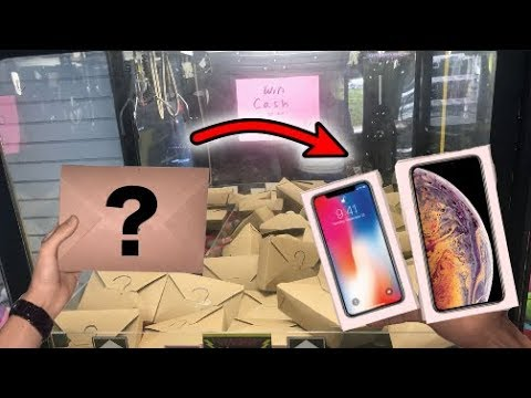 WON iPhone XS MAX and X From Mystery Box Claw Machine! | JOYSTICK