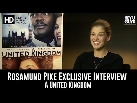 "Rosamund Pike Exclusive Interview on ""A United Kingdom"""