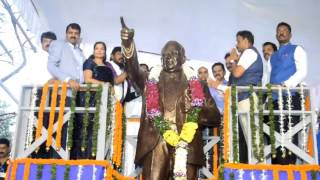 Cultural Affairs Minister Vinod Tawde unveiled statue of Dr. Babasaheb Ambedkar