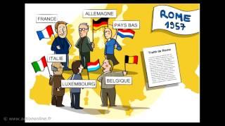 Toute la construction de l'UE... en moins de 3 mn !