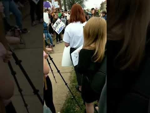Walkout for gun control at Central High School, Springfield MO