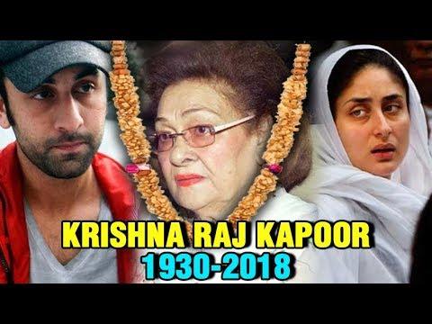 Bollywood MOURNS for Ranbir Kapoor's Grandmother K