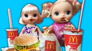 Video Baby Alive Oyuncak Bebekler Mc Donalds Yiyor | Bebek Bakma Oyunu | EvcilikTV MP3, 3GP, MP4, WEBM, AVI, FLV November 2017