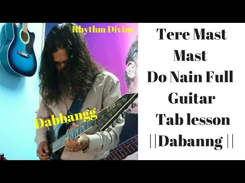 Video Tere Mast Mast Do Nain Guitar Lesson|| Dabangg || download in MP3, 3GP, MP4, WEBM, AVI, FLV January 2017