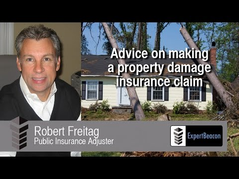 Advice on making a property damage insurance claim