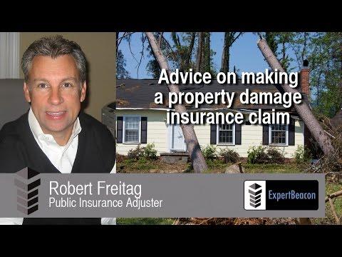 Advice on making a property damage insurance claim