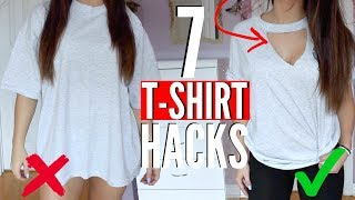 Video 7 T-SHIRT HACKS EVERY Girl SHOULD Know | How to Transform your OLD T-SHIRTS !! (NO SEW) MP3, 3GP, MP4, WEBM, AVI, FLV Juli 2018