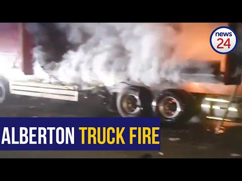 WATCH | Man in critical condition after Alberton truck fire