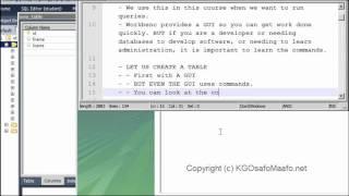 DBMS Tutorials - MySQL 5 Server/Client - Part 2/4