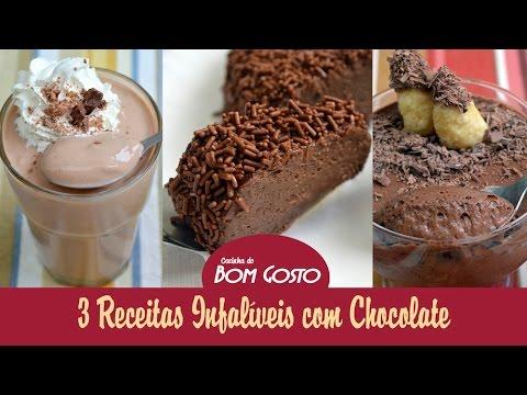 3 receitas infalíveis com Chocolate