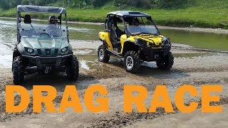 10. Can Am Commander 1000 vs Yamaha Rhino 700 Drag Race