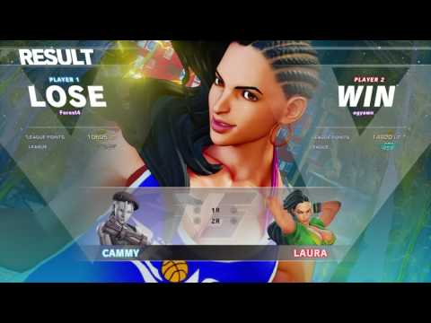 Ranked VS Laggy Diamond Laura STREET FIGHTER V_20170314045833