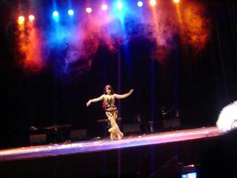 Dana Said Percucion en la muestra anual de danzas árabe 10 años Raks Sharki