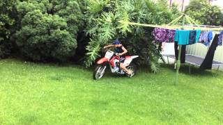 9. crf125f honda 2014 first ride with fmf pipe and pro taper bars