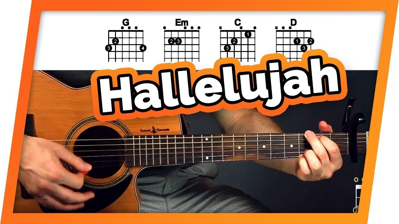 Hallelujah – Jeff Buckley – Guitar Tutorial (Lesson) For Beginners