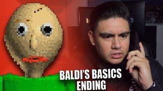 BALDI CALLED ME & LEFT A DISTURBING MESSAGE | Baldi's Basics (ALL EXITS FULL ENDING)