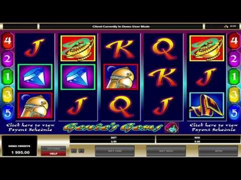FREE Genie Gems  ™ slot machine game preview by Slotozilla.com