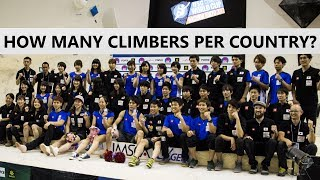 How many climbers per country? | IFSC Rules by OnBouldering