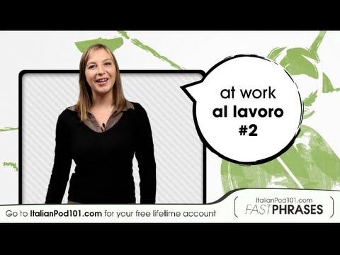 Wann arbeiten Sie? - Italienische Vokabeln