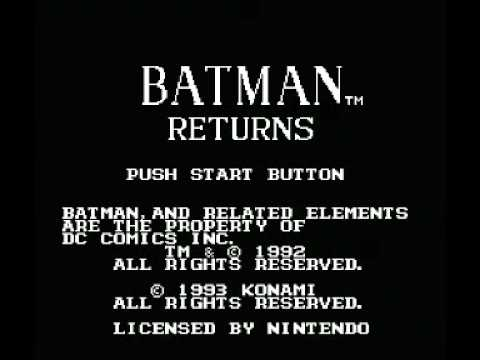 batman returns nes codes