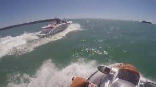 8. SeaDoo Speedster 200 - 510 hp VS SeaDoo RXT-X 255 hp - GOPRO (Boat vs Jet ski)