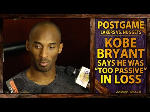 Video: Lakers Vs. Nuggets: Kobe Bryant Thought He Was