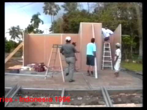 Assembly of flat packaged low cost housing – Indonesia 1996