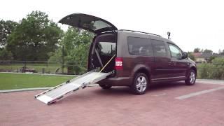 Elektrické sklápění rampy - RA 001 + el. dveře ve voze VW Caddy