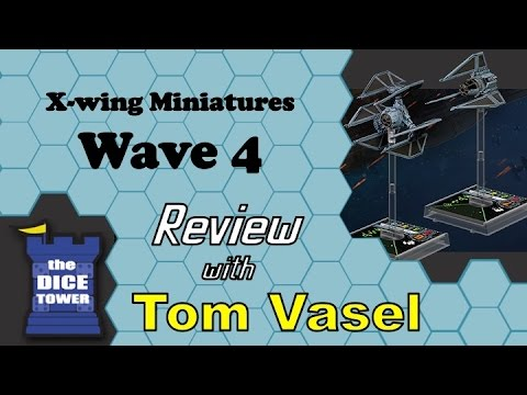 Wave x - Tom Vasel takes a brief look at the four ships from X-wing Miniatures Wave 4 - the Tie Defender, the Tie Phantom, the Headhunter, and the E-wing Buy great ga...
