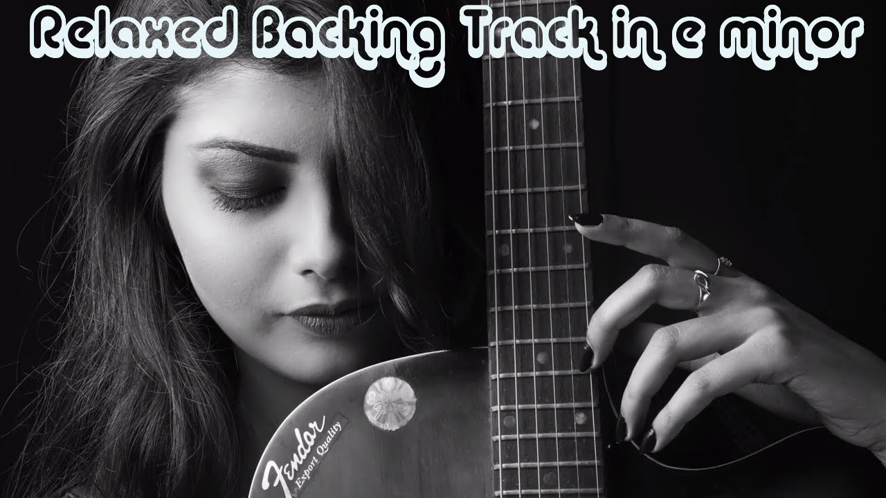 Relaxed Electric Guitar Backing Track in e minor