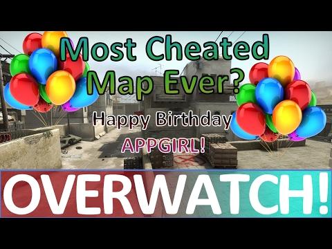 Most Cheated Map EVER! CS:GO OVERWATCH (Happy Birthday APPGIRL!) (видео)
