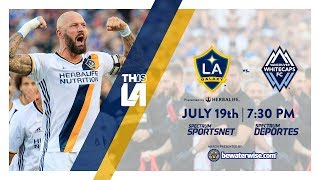 Don't miss the LA Galaxy take on the Vancouver Whitecaps. Watch it live on Spectrum Sportsnet at 7:30 PM PT.Want to see more from the LA Galaxy? Subscribe to our channel at http://www.youtube.com/LAGalaxy.Facebook: http://www.facebook.com/lagalaxyTwitter: http://www.twitter.com/lagalaxyWant to check out a game? Visit http://www.lagalaxy.com to view upcoming matches and purchase tickets!